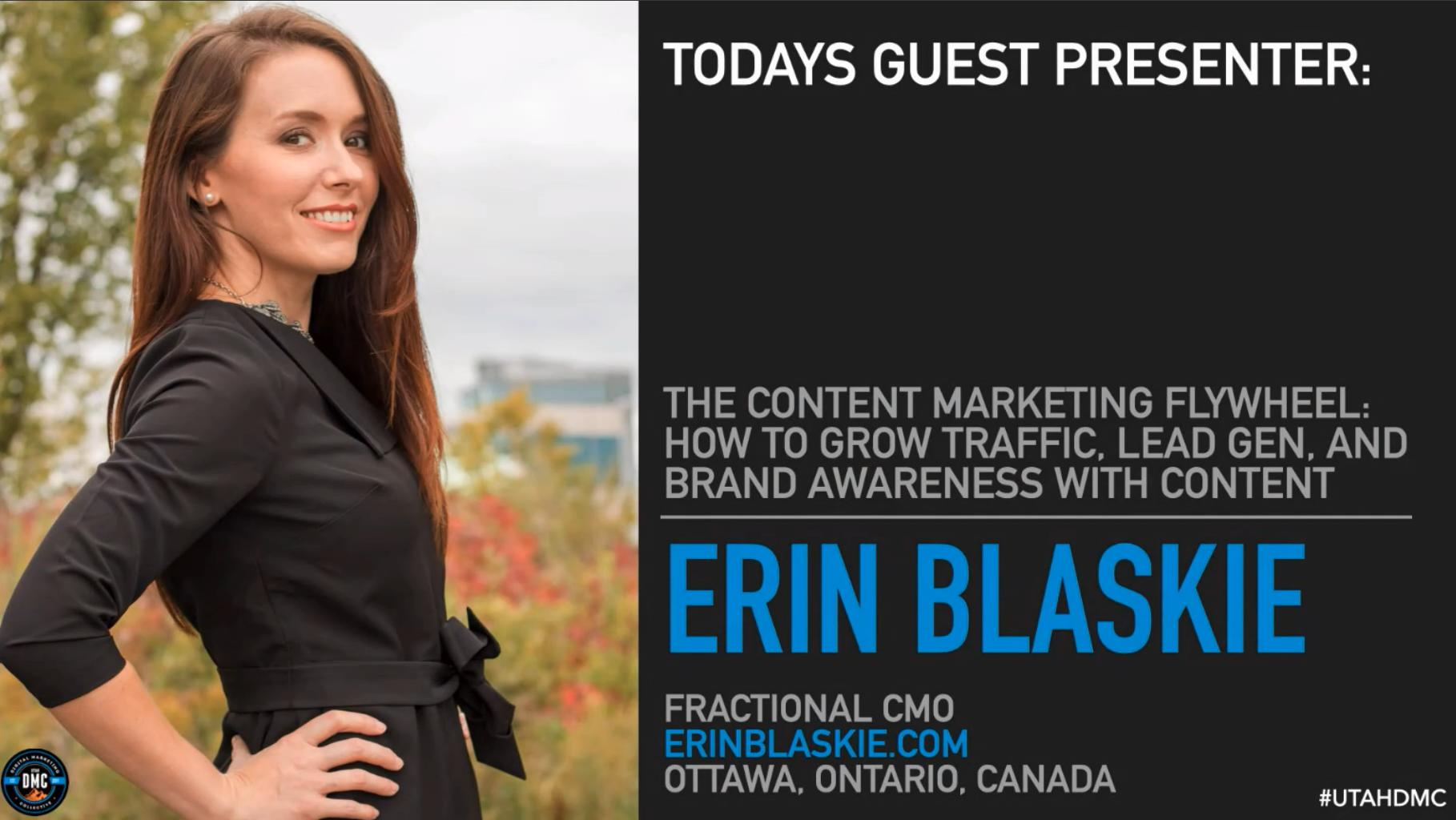 Erin Blaskie - Utah DMC Feb 24 2021 - The Content Marketing Flywheel