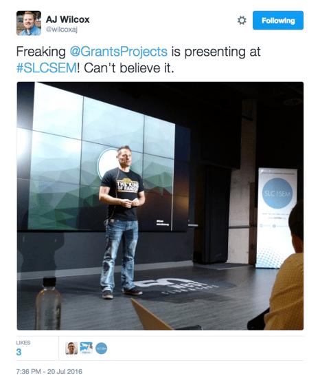AJ Wilcox's Grant Thompson Tweet