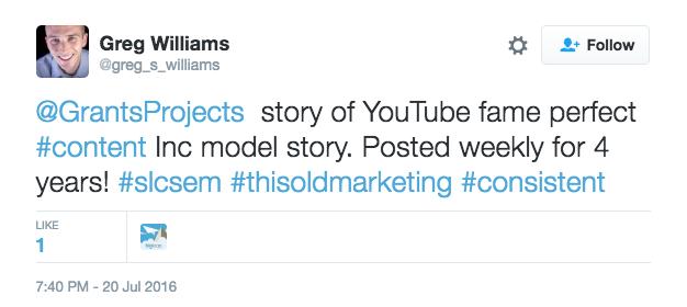 Greg Williams' King of Random Tweet