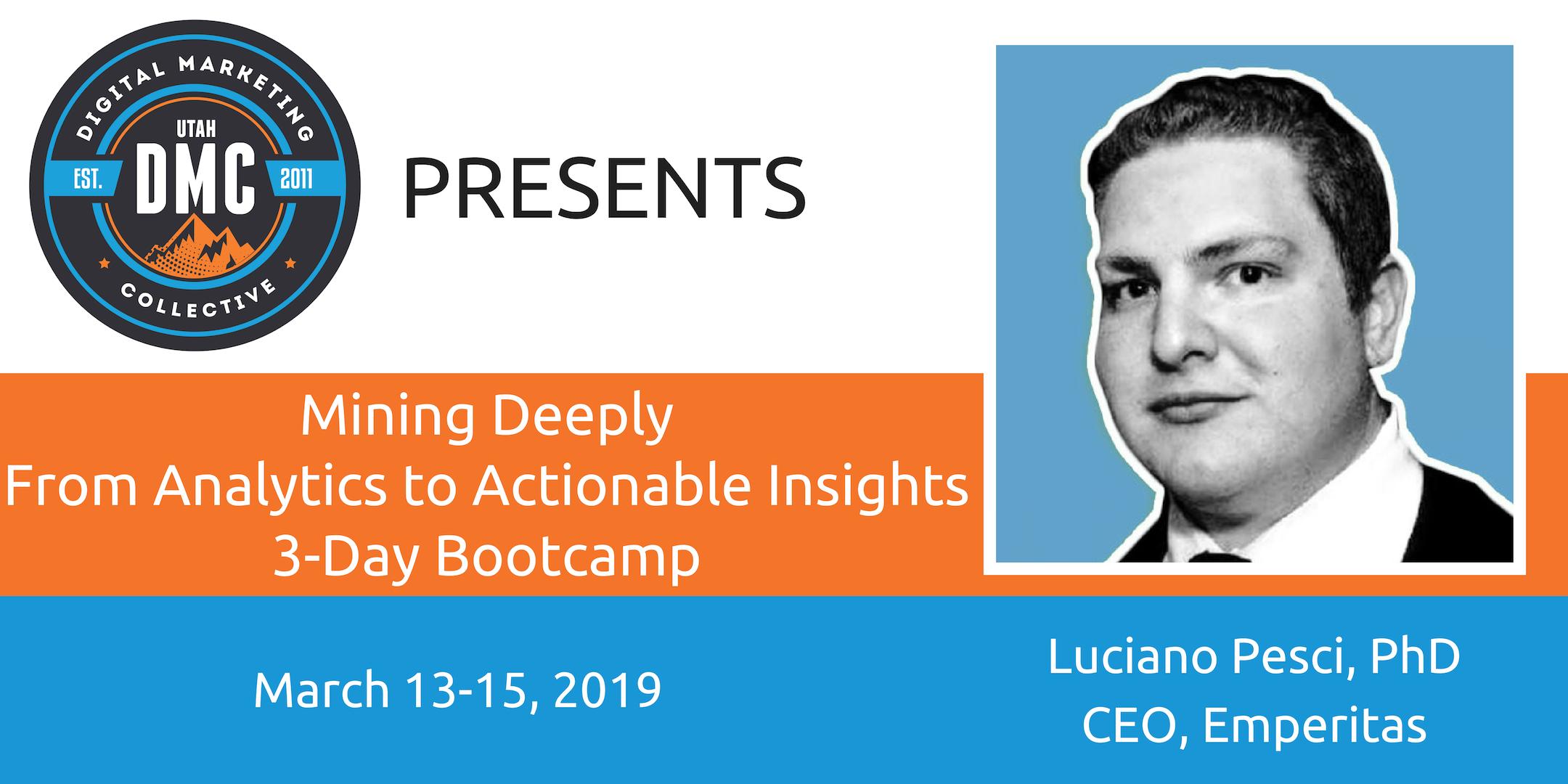 Utah DMC 3-day bootcamp March 2019