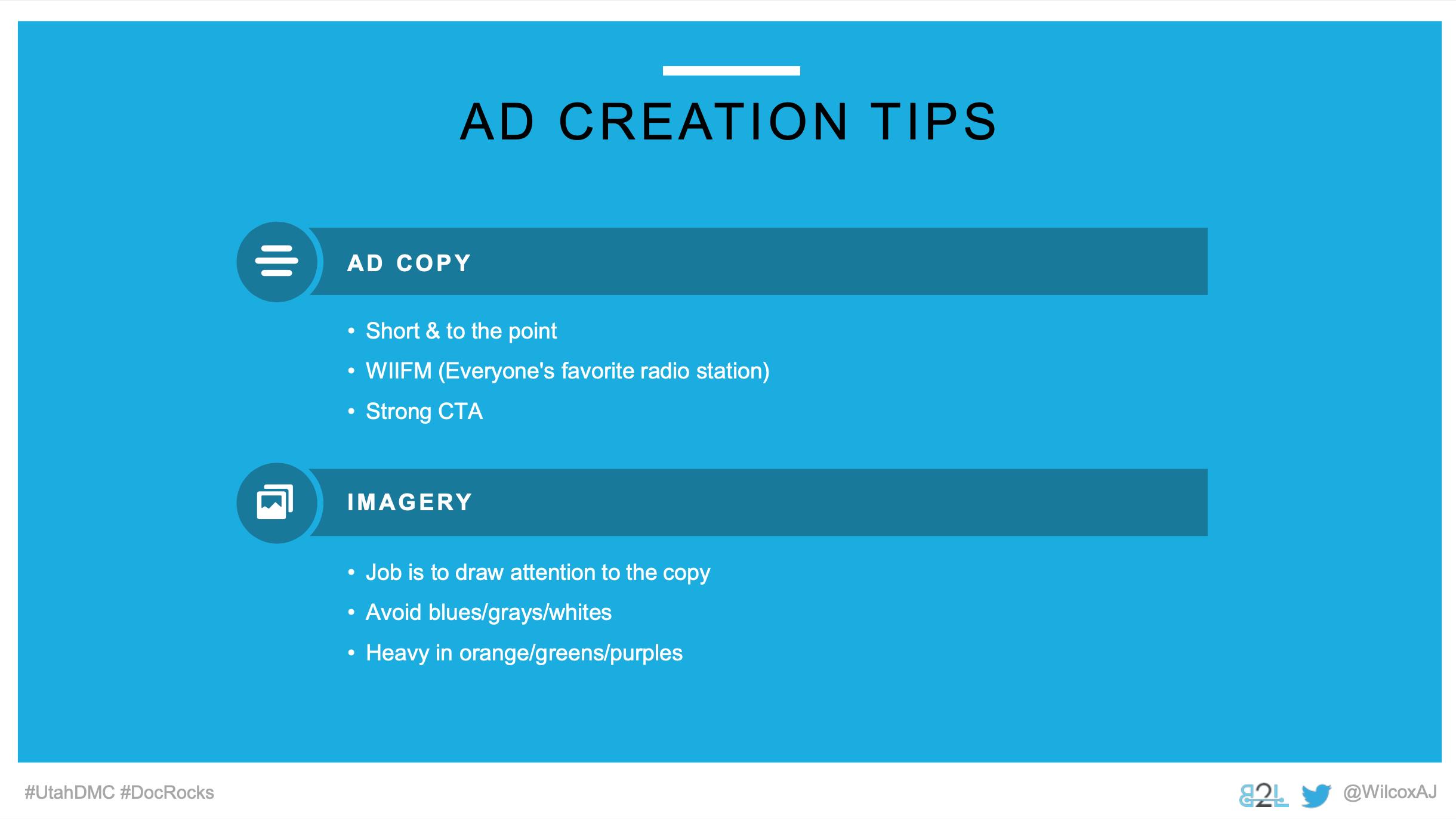 Utah DMC LinkedIn Ads - Aj Wilcox - Ad Units - Ad Creation Tips