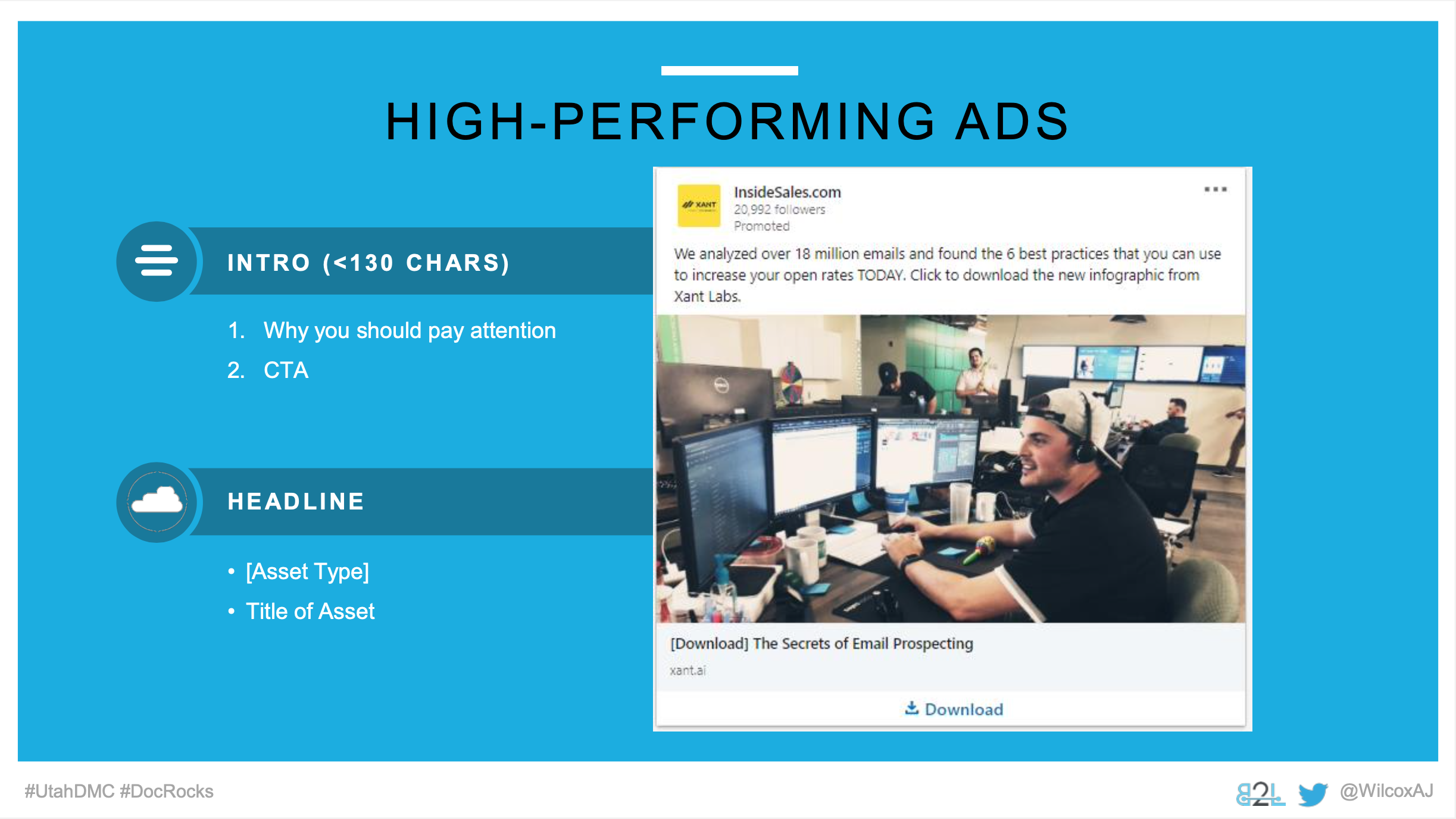 Utah DMC LinkedIn Ads - Aj Wilcox - Ad Units - High-Performing Ads