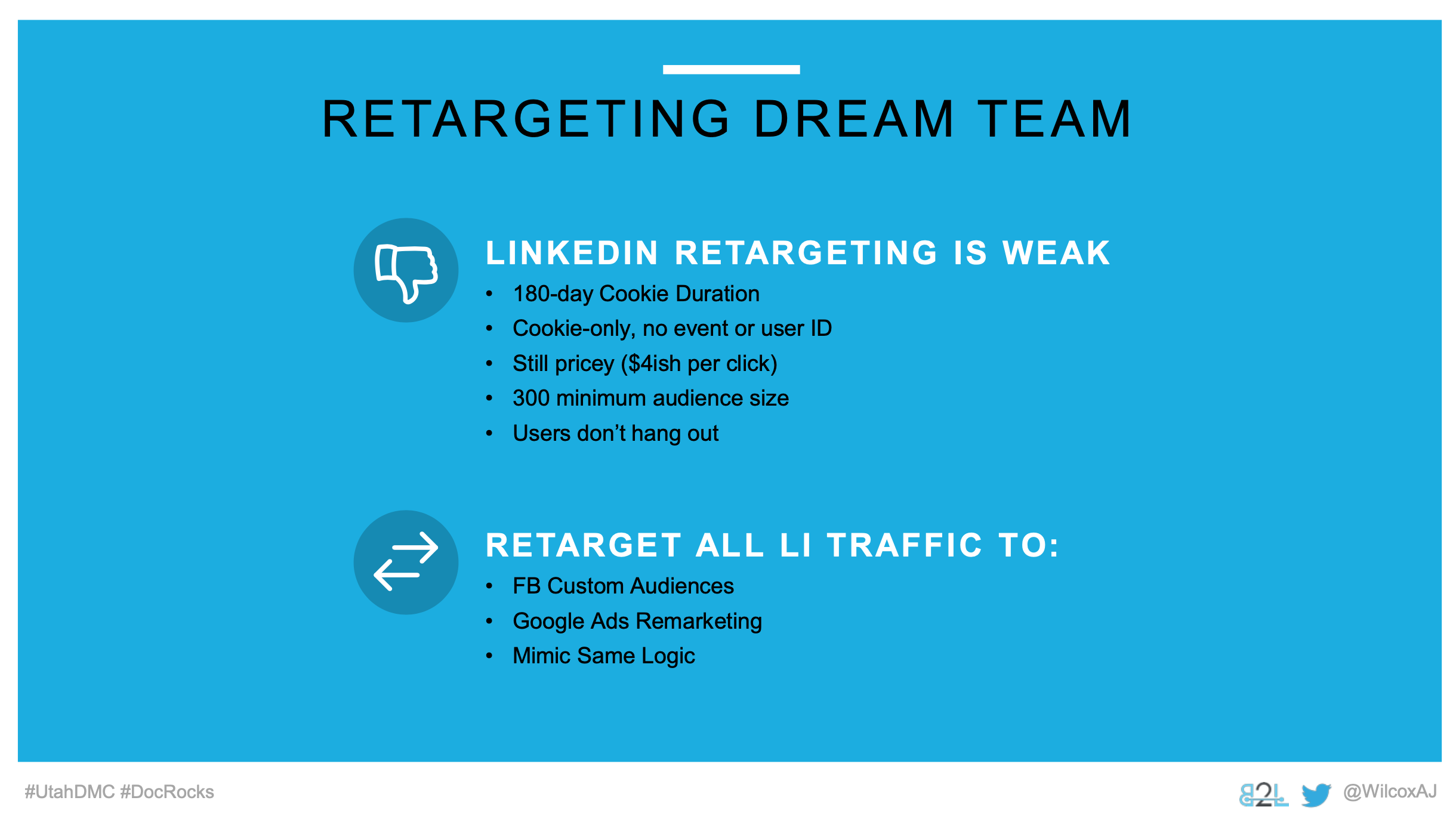 Utah DMC LinkedIn Ads - Aj Wilcox - Ad Units - Retatgeting Dream Team