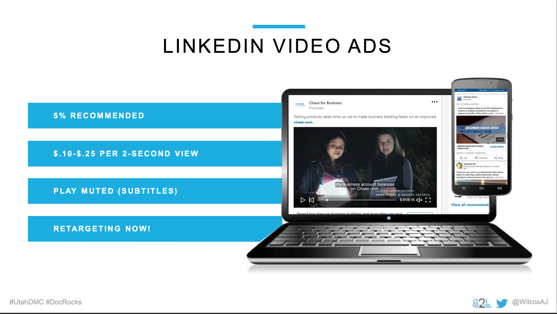Utah DMC LinkedIn Ads - Aj Wilcox - Ad Units - Video Ads